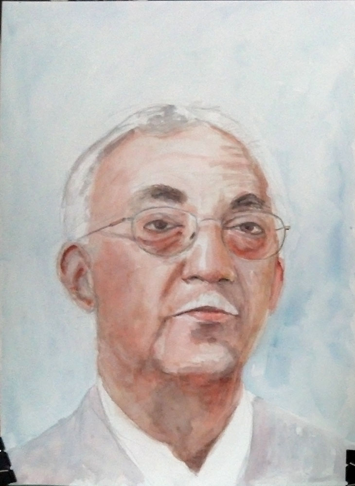 Painting commission of Toke Talagi in watercolor