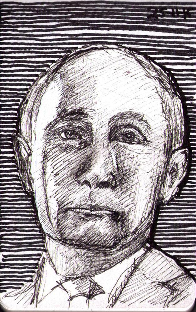 thomas-dalsgaard-clausen-2015-11-25a portrait of vladimir putin in pen