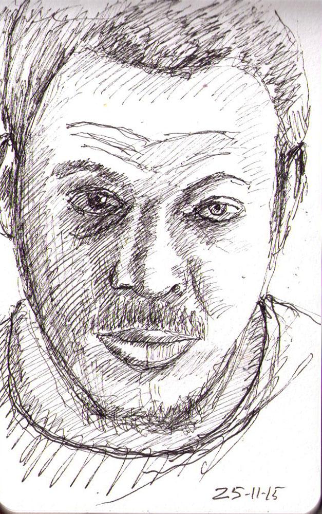 thomas-dalsgaard-clausen-2015-11-25c sketchy self portrait