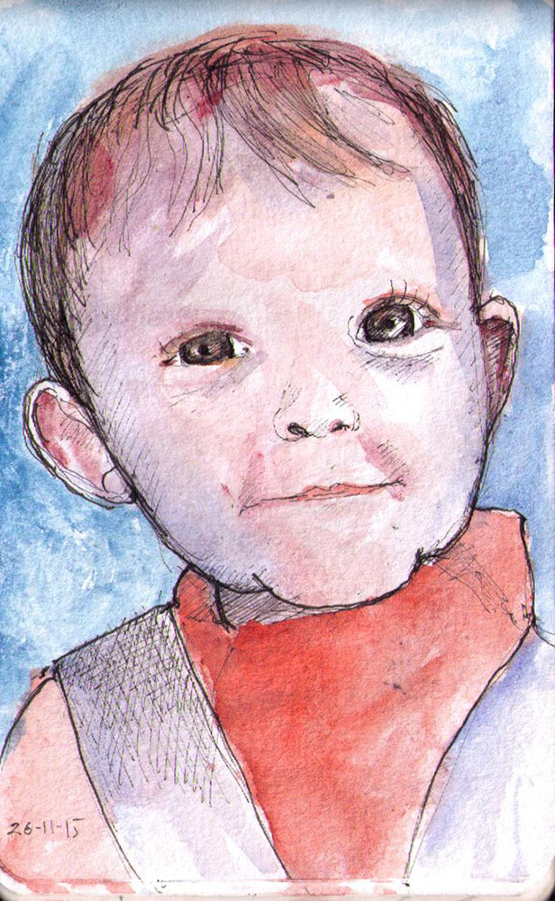 thomas-dalsgaard-clausen-2015-11-26a sketch of a little girl