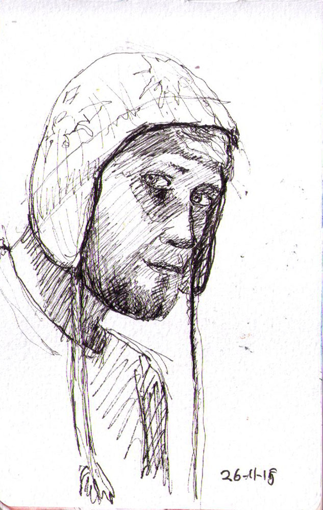 thomas-dalsgaard-clausen-2015-11-26c sketch of a guy wearing a hat
