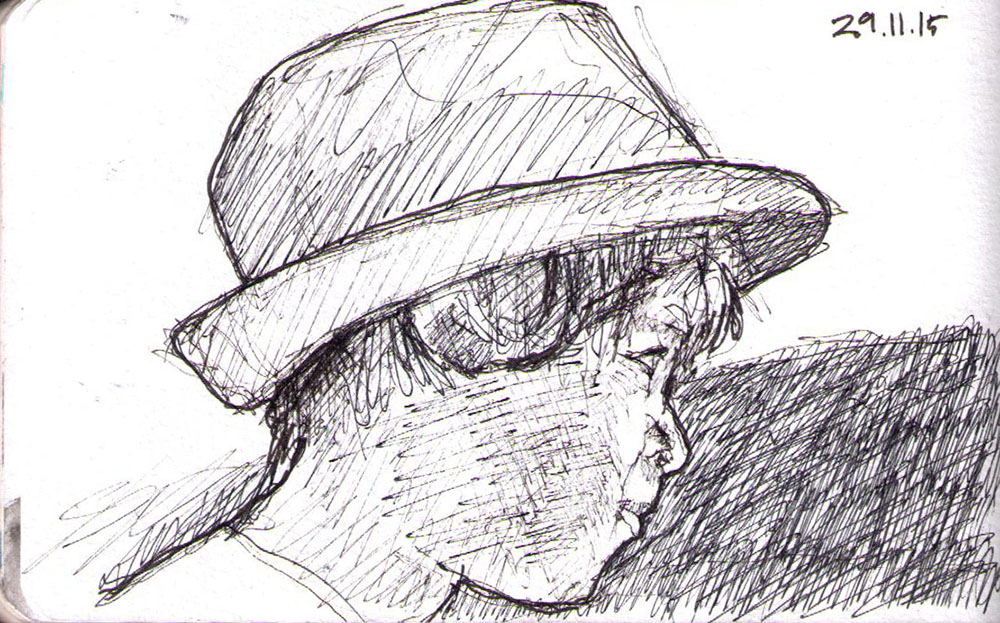 thomas-dalsgaard-clausen-2015-11-29b sketch of a boy with a fedora hat in pen.jpg